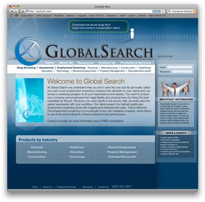 Global Search Flash Website