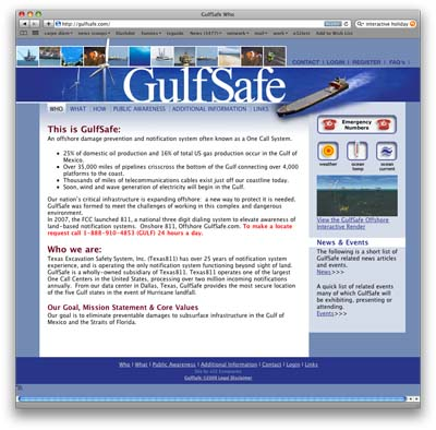 GulfSafe Flash Website